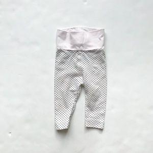 H&M dot high waisted leggings EUC 2-4 months